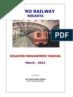 Disaster Management Manual - Kolkata Metro