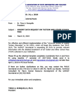 Advisory No. 54 Urgent Data Request on Tuition and Other School Fees