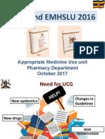 Uganda Clinical Guidelines and EMHSLU 2016