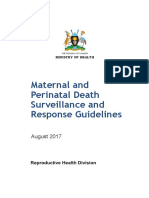 Maternal and Perinatal Death Surveillance and Response Guidelines August 2017