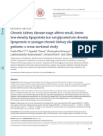 Chronic kidney disease stage affects small, dense low-density lipoprotein but not glycated low-density lipoprotein in younger chronic kidney disease patients