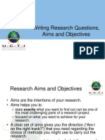 Formulating Aims and Objectives