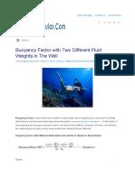 Buoyance Factor