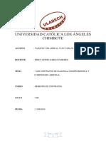 """""""Los Contratos de Cláusula Compromisoria y Compromiso Arbitral"""