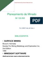 PLANEAMIENTO DE MINADO