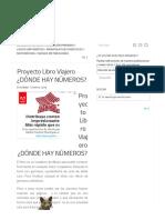Proyecto Libro Viajero ¿DÓNDE HAY NÚMEROS_ - Imagenes Educativas