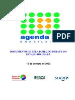 Agenda 21 Brasileira Documento de Relatoria Do Dabate Do Estado Do Ceará