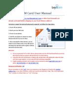SIM Card User Manual