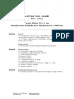 Audition Viola 2018 Scores