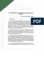 Documento Electrónico Como Medio de Prueba