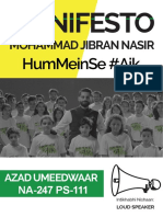 Mohammad Jibran Nasir Manifesto 2018