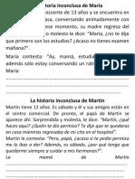 La Historia Inconclusa de María Anexo Tutoria