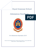 Admissions Handbook for Year 7 2019