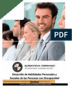 Uf0799 Desarrollo de Habilidades Personales Y Sociales de Las Personas Con Discapacidad Online