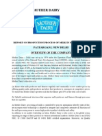 Report on Mother Dairy