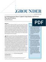 Let Entrepreneurs Raise Capital Using Finders and Private Placement Brokers by David R. Burton