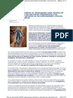 Alimentación Moderna vs. Alimentación Sana. Fuentes de Toxicidad, El Rol de Las Reacciones Inflamatorias ...