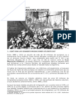 Emigración Europea Hacia América s. Xix y Xx
