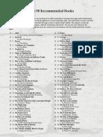Top 50 books of lif