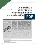 Ensenanza de La Historia y Curriculum Oculto