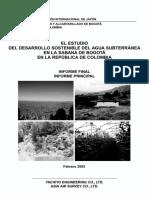 desarrollo sostenible del agua subterránea en la sabana de Bogotá