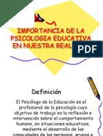 Psicologia Educativa en Nuestra Realidad