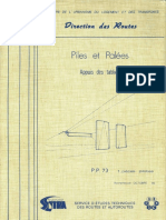 Piles Et Palées PP73 - Appuis Des Tabliers Continus - 1 Pièces Pilotes