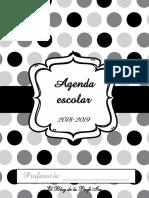 Agenda Escolar 2018/2019 - Blanco y Negro