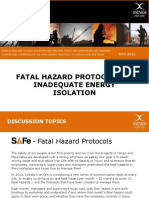 FHP 7 Inadequate Energy Isolation