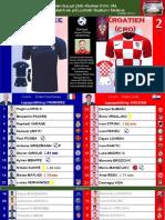 VM-final 180715 Frankrike - Kroatien 4-2