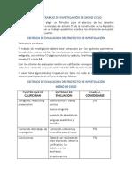 Indicaciones Del Trabajo de Investigación Medio Ciclo