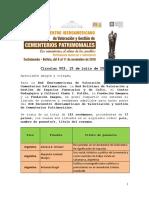 Circular 003 Ponentes y resúmenes aceptados XIX Encuentro Iberoamericano