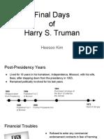 Final Days of Harry S. Truman