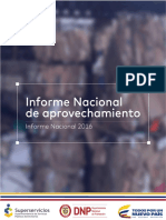 Informe Nacional de Aprovechamiento 2016 Dic