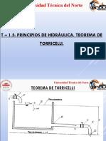 t 1-5 Principios de Hidraulica-teorema de Torricelli
