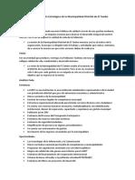 Plan de Desarrollo Estratégico de La Municipalidad Distrital de El Tambo