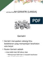 SINDROM GERIATRI