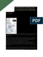 Conflicto Sobre Delimitación Marítima Entre Chile y Perú