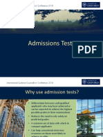 6 Admissions Tests