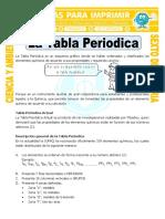 Ficha La Tabla Periodica Para Sexto de Primaria (1)