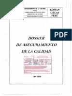 Dossier de Aseguramiento de La Calidad TAG 320-CNB-605-606