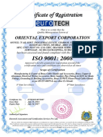 Certificate-IsO 9001-Oriental Export Corporation