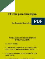 4.-El Tema Para Investigar.