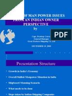 Capt.pradeep Correa - Growth of the India Economy and Ship b