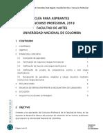 Concurso Profesoral 2018 - Guia Aspirantes