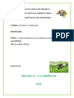 Nutricional de Los Principales Pastos y Forrajes