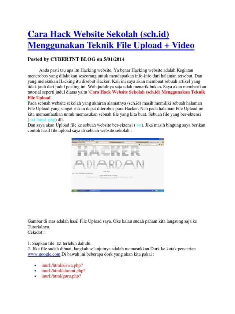 Cara Hack Website Sekolah