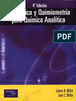 (Spanish Edition) James Miller, Jane C. Miller-Estadistica y Quimiometria Para Quimica Analitica-Pearson Educacion (2005)