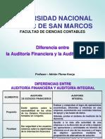 5.- Diferencias entre la Auditoría Financiera y la Auditoría Integral