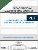 7.- Los Factores Del Entorno Que Influyen en La Empresa